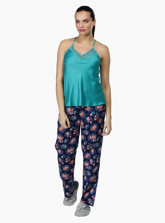 Sleeveless Top and Pyjama Set