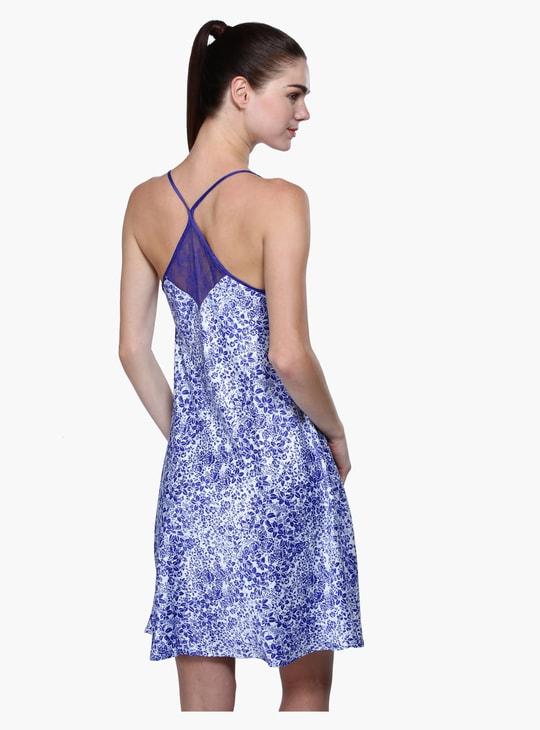 Printed V-Neck Night Dress