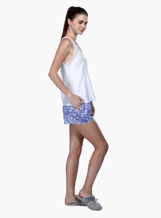 Sleeveless Top and Shorts Set