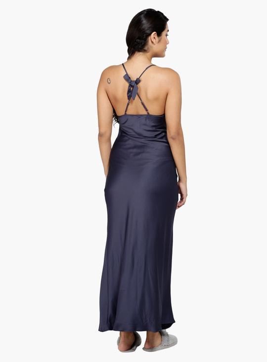 Lace Sleeveless Sleep Dress with V-Neck