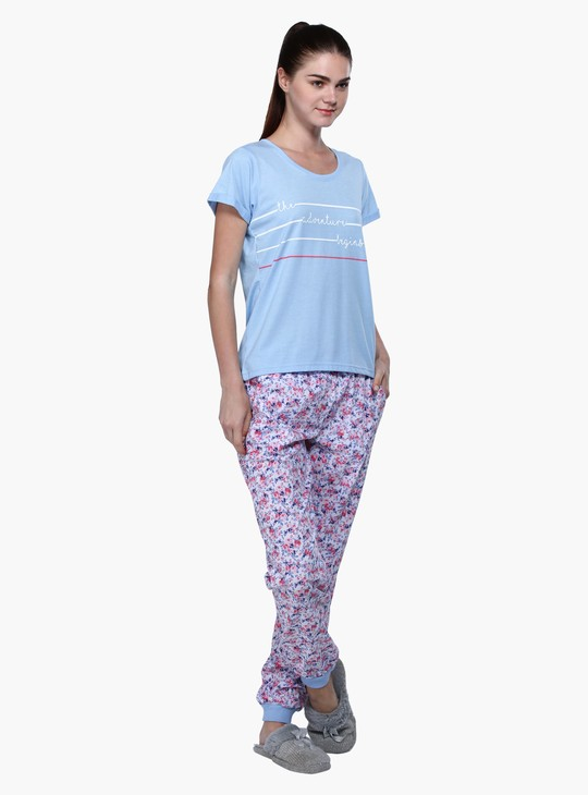 Short Sleeves Pyjama Set