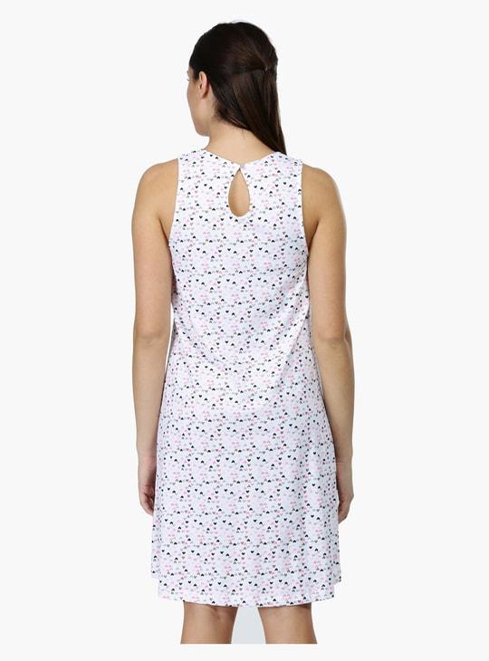 Printed Sleeveless Night Dress