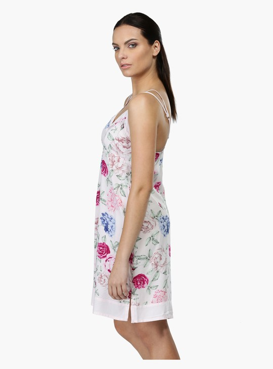 Printed Sleeveless Night Dress