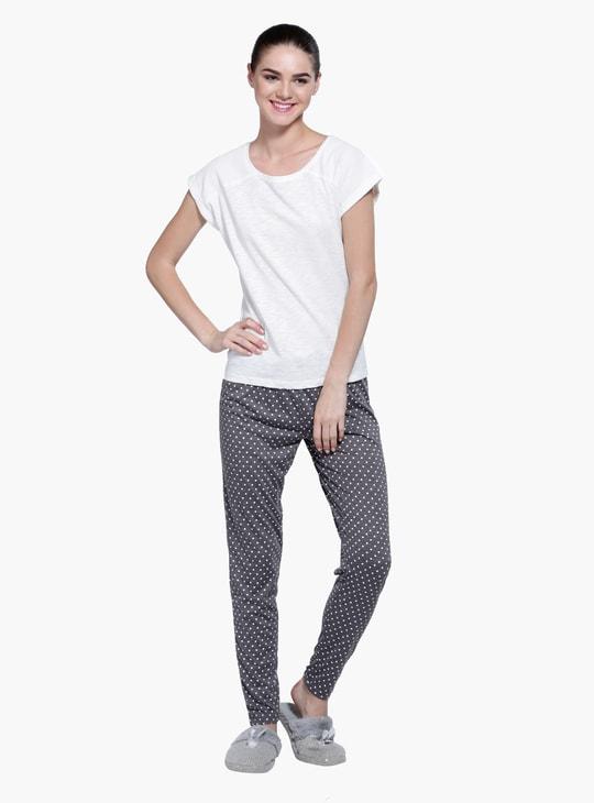 Printed Short Sleeves Pyjama Set