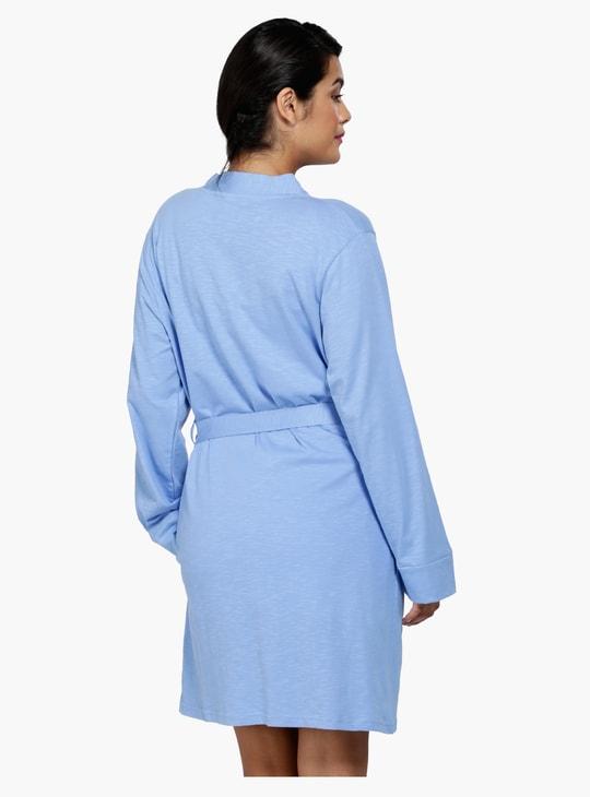 Melange Tie-Up Sleep Robe