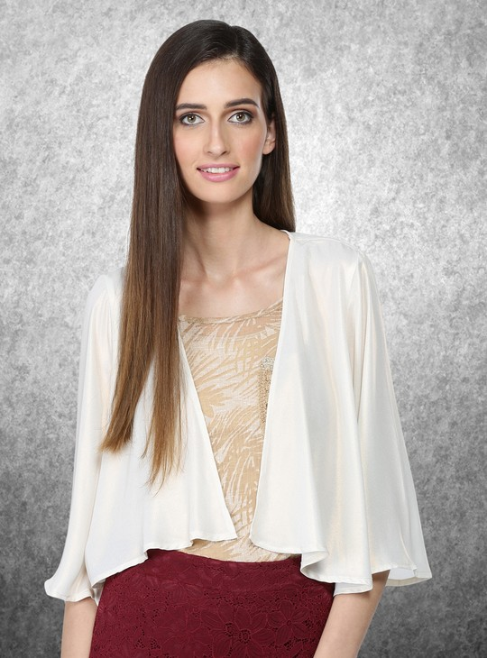 3/4 Sleeves Open Front Shrug