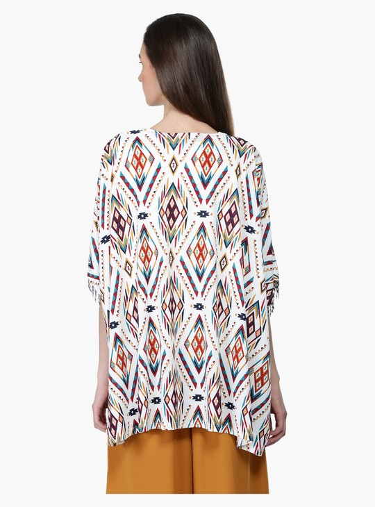 Printed Shrug with Beaded Pattern