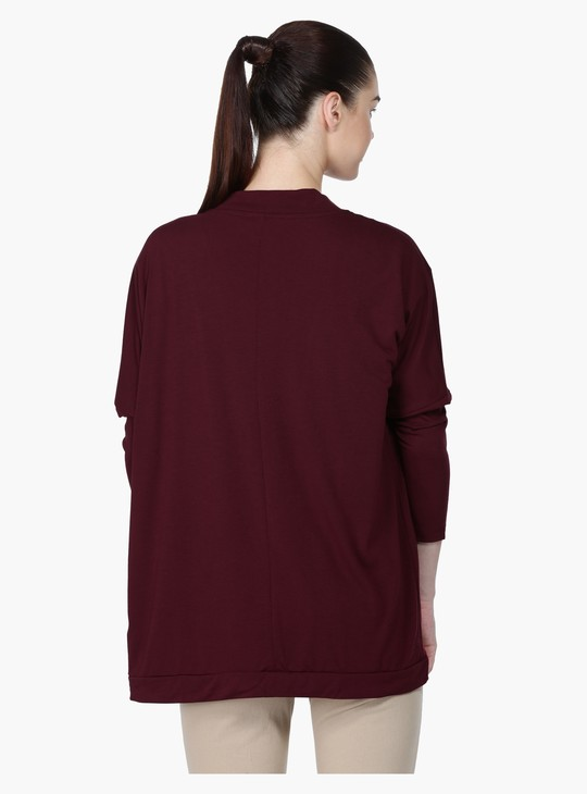 Long Sleeves Shrug with Open Front