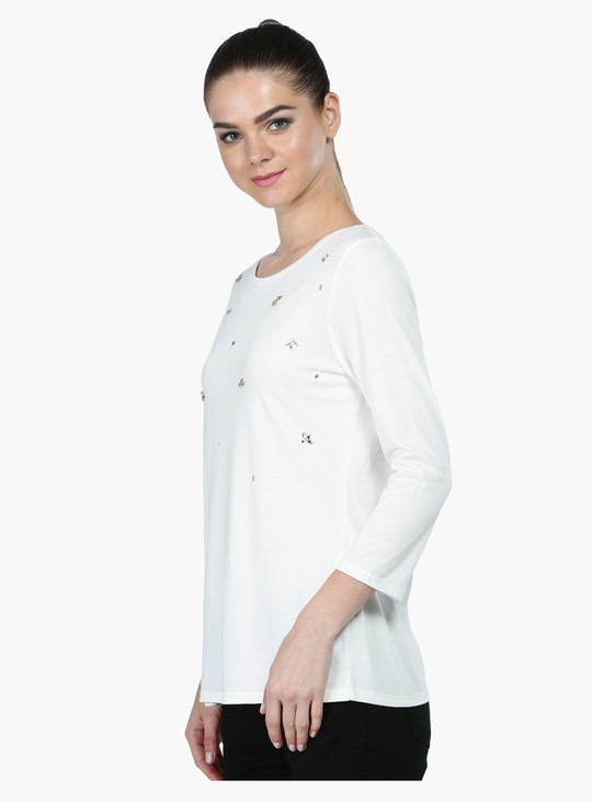 Embellished Long Sleeves Top
