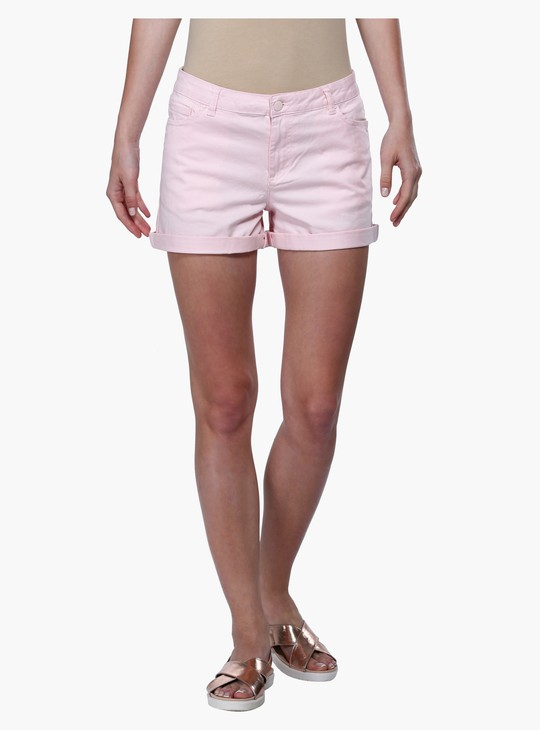 Shorts with Buttoned Closure