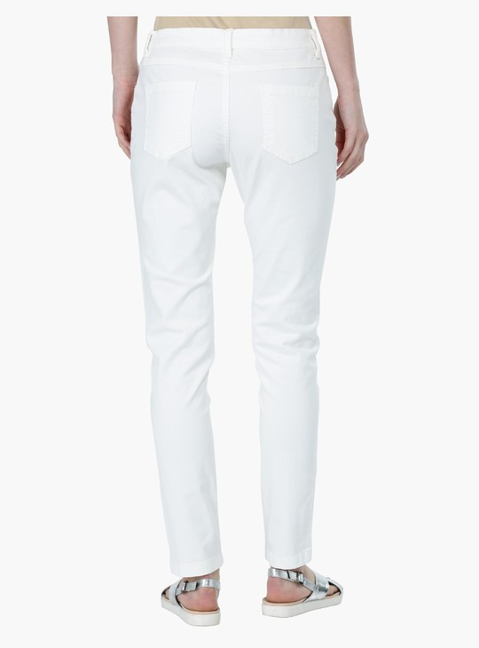 Mid Rise Skinny Fit Trousers