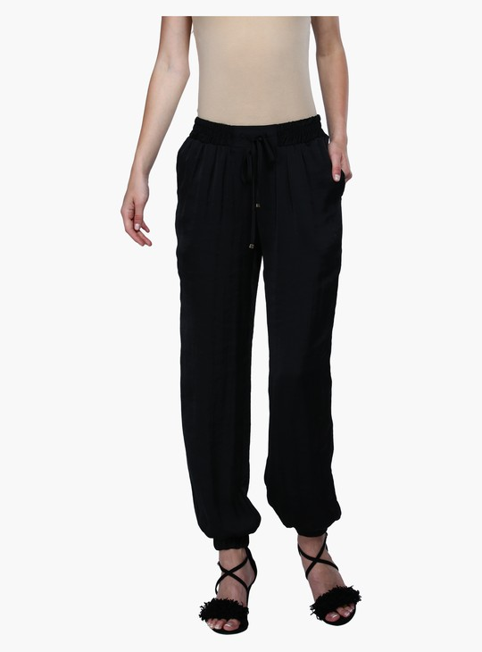Full Length Harem Pants with Elasticised Waistband