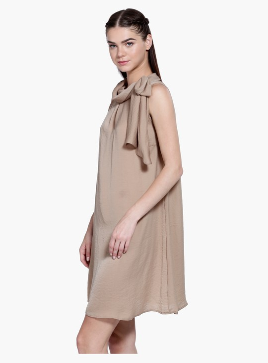 Sleeveless A-Line Midi Shift Dress