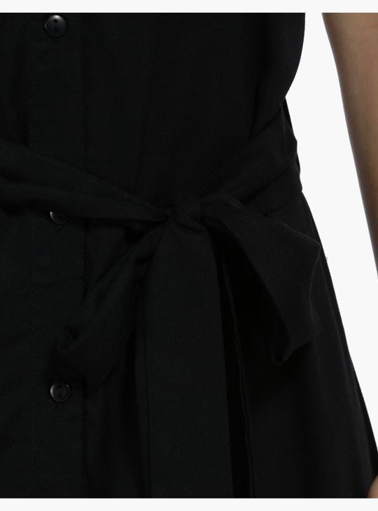 قميص فستان بأكمام قصيرة