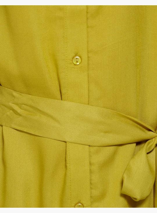 فستان مطبوع بأكمام قصيرة