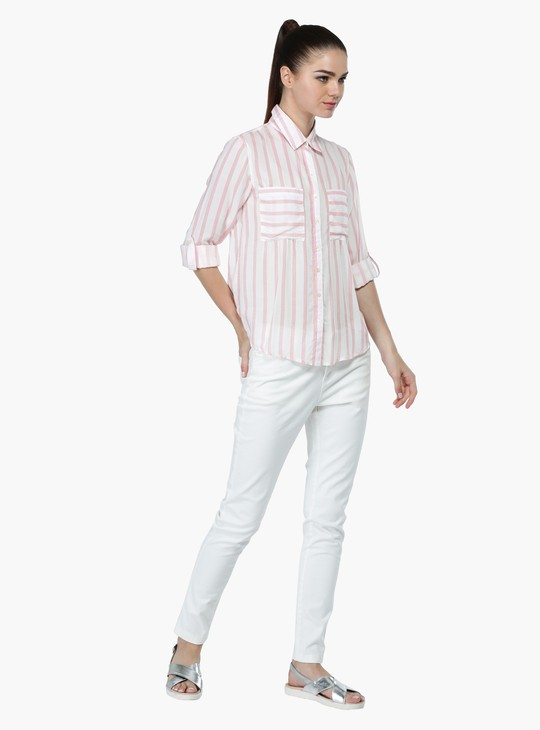 Striped Oversized Woven Shirt