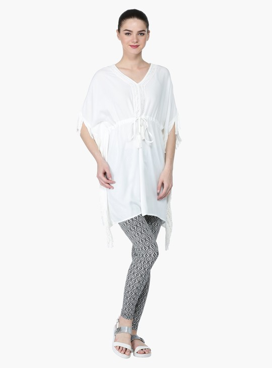 Tie Up Tunic with V-Neck