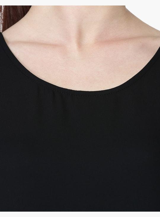 Sleeveless Round Neck Top