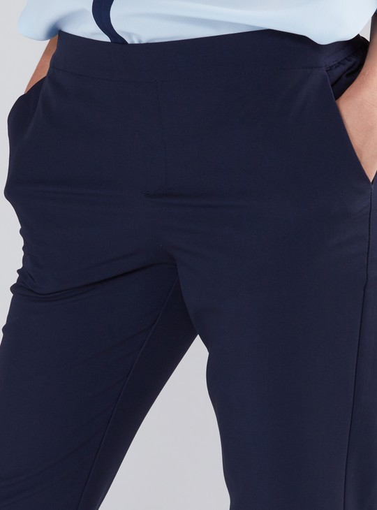 Full Length Chinos with Pocket Detail and Elasticised Waistband