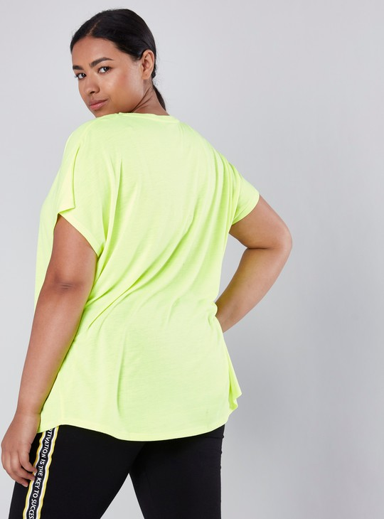 Printed T-Shirt in Regular Fit with Round Neck