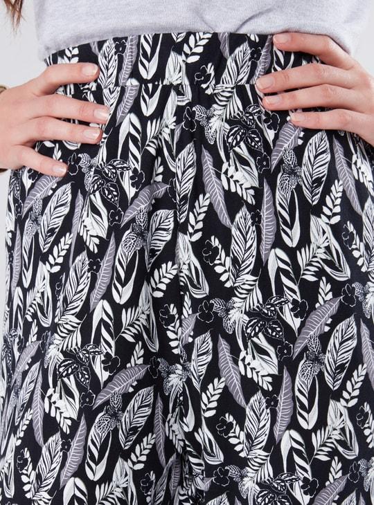 Printed Drail Harem Pants
