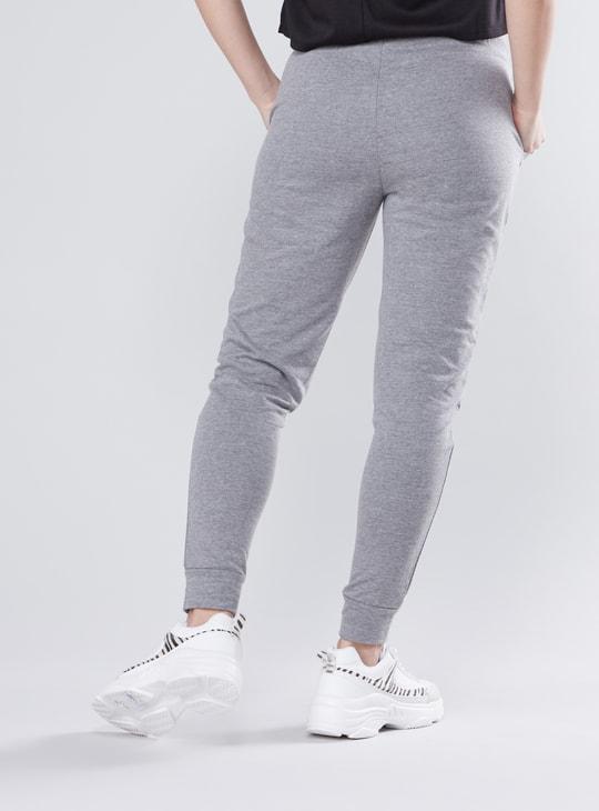 Printed Mid Waist Jog Pants with Elasticised Waistband and Pockets