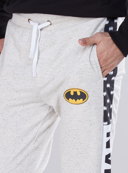 Batman Printed Jog Pants with Tape Detail and Elasticised Waistband
