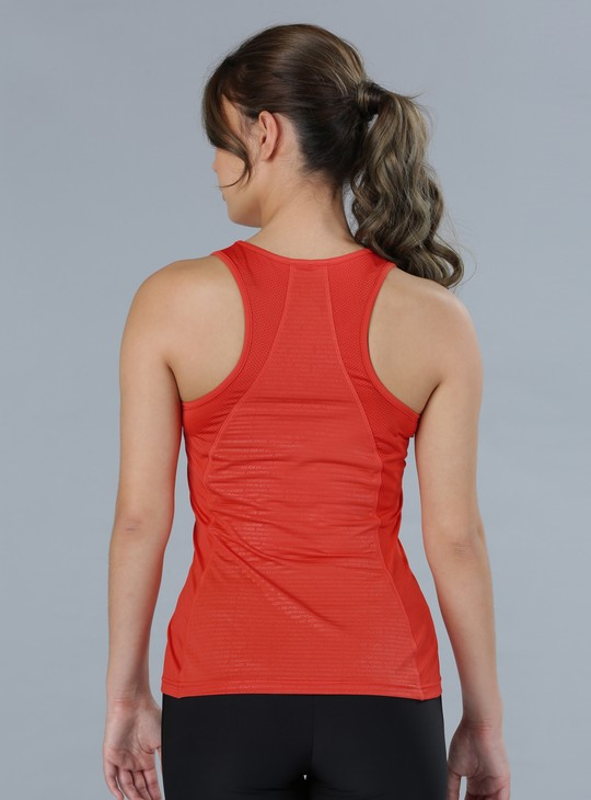 Printed Sleeveless T-Shirt with T-Back