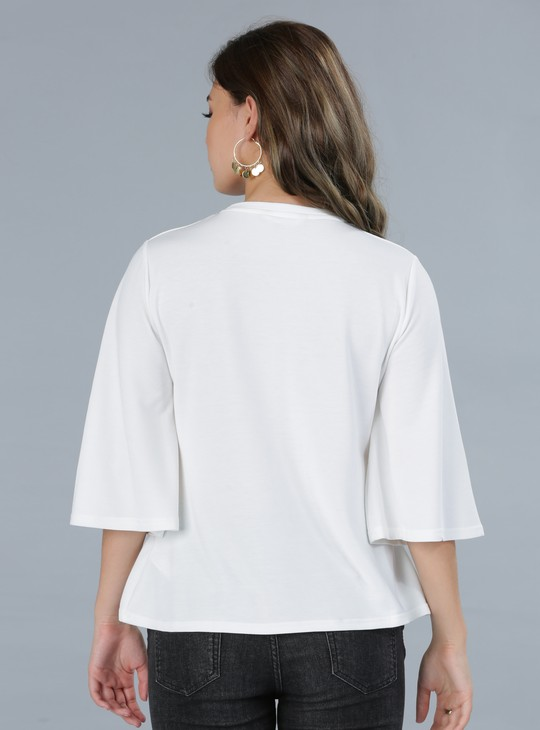 Round Neck Top with Embellishments
