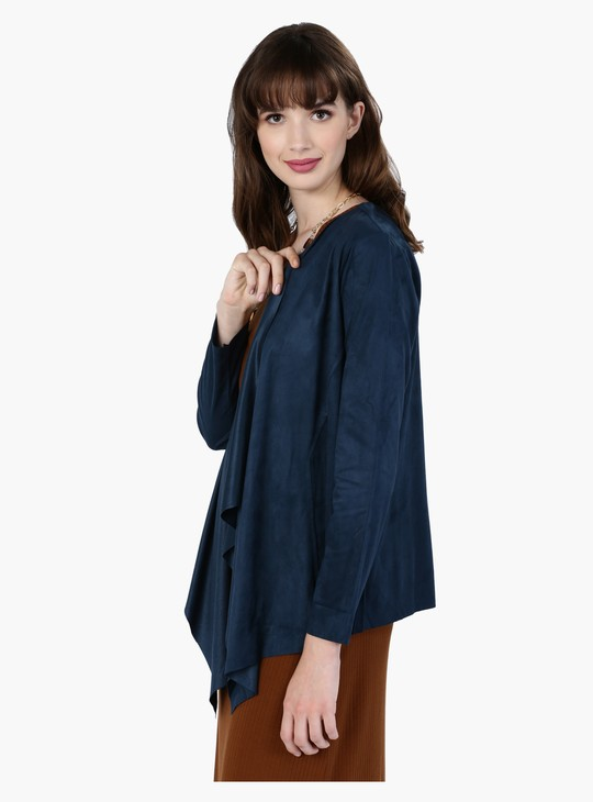 Open Front Jacket with Long Sleeves