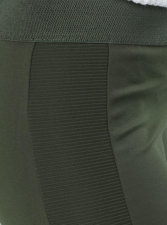 بنطال ضيق طويل بتصميم بوش أب