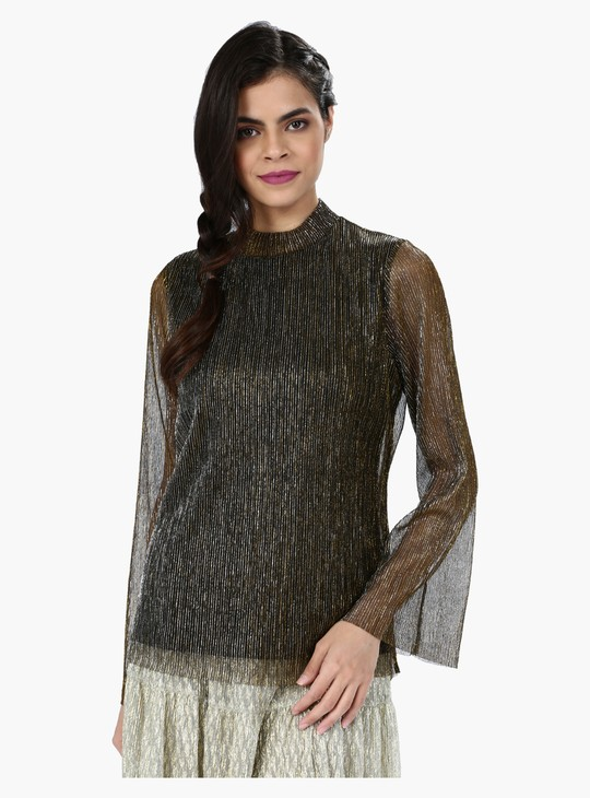 Shimmer Top with Long Sleeves