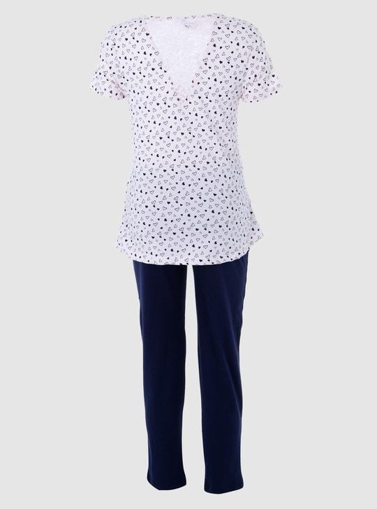Maternity Short Sleeves Pyjama Set