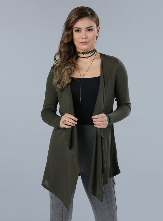 Long Sleeves Open Front Shrug