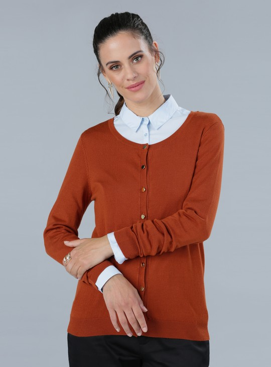 Cardigan Sweater with Long Sleeves