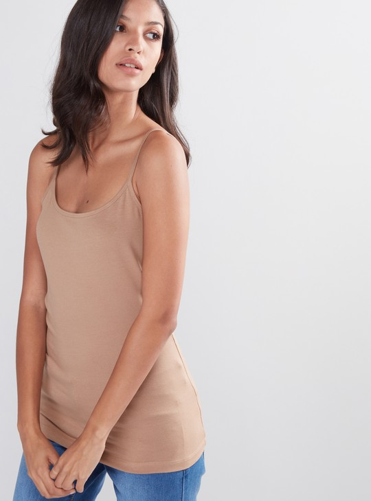 Scoop Neck Camisole with Spaghetti Straps
