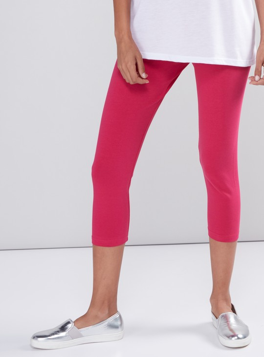 3/4th Leggings with Elasticised Waistband