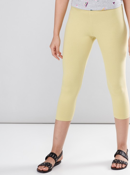 Capris Leggings with Elasticised Waistband