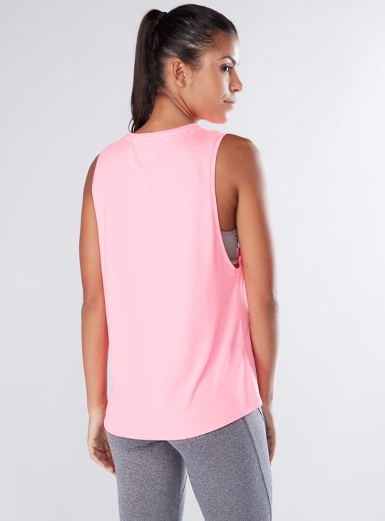 Sleeveless T-Shirt with Round Neck