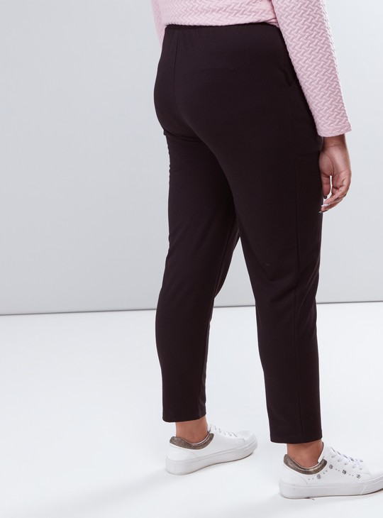 Cropped Pants with Pocket Detail and Drawstring