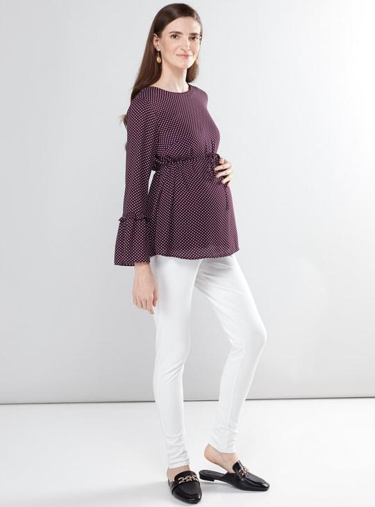 Maternity Full Length Leggings with Elasticised Waistband