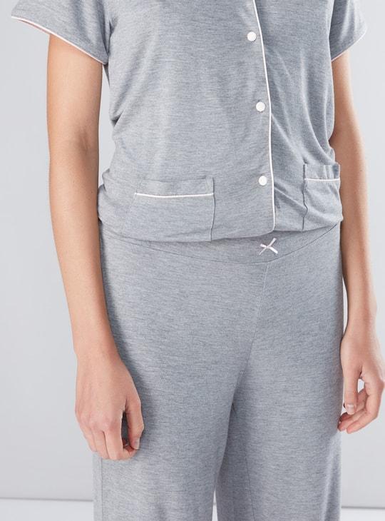 Short Sleeves Shirt and Pyjama Set