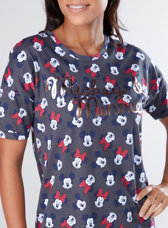 Minnie Mouse Printed Sleep Dress