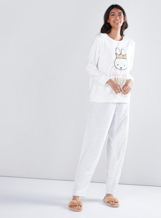 Miffy Embroidered Sweatshirt with Striped Pyjamas