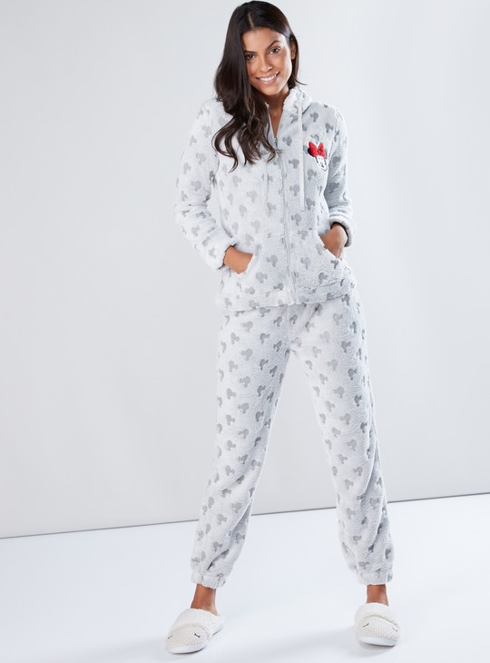 Minnie Mouse Embellished Top and Pyjama Set