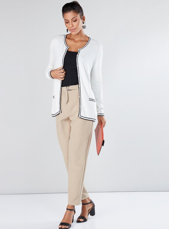 Long Sleeves Cardigan with Button Closure and Pocket Detail