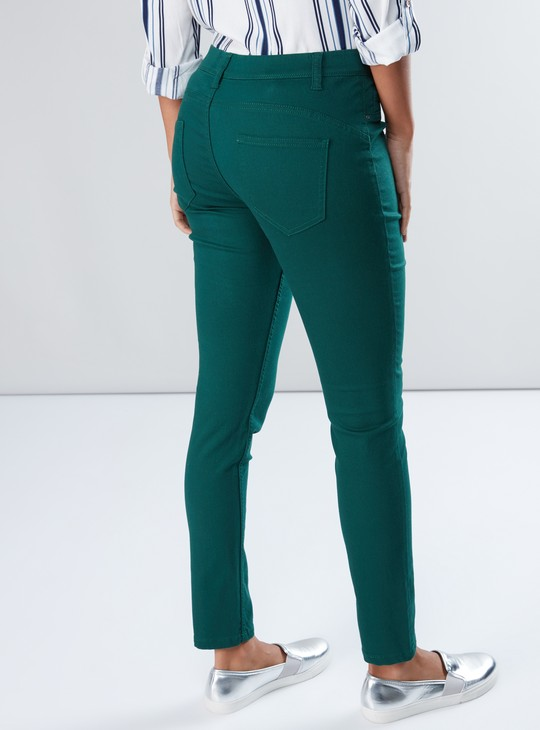 Full Length Jeggings with Pocket Detail