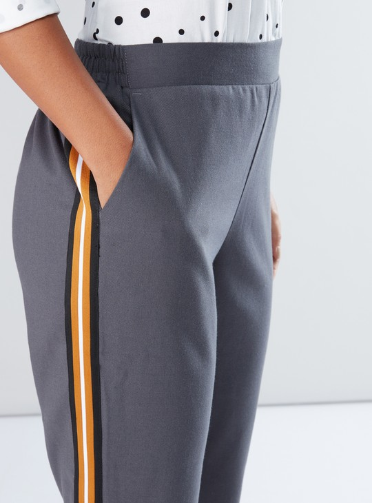 Full Length Pants with Tape and Pocket Detail