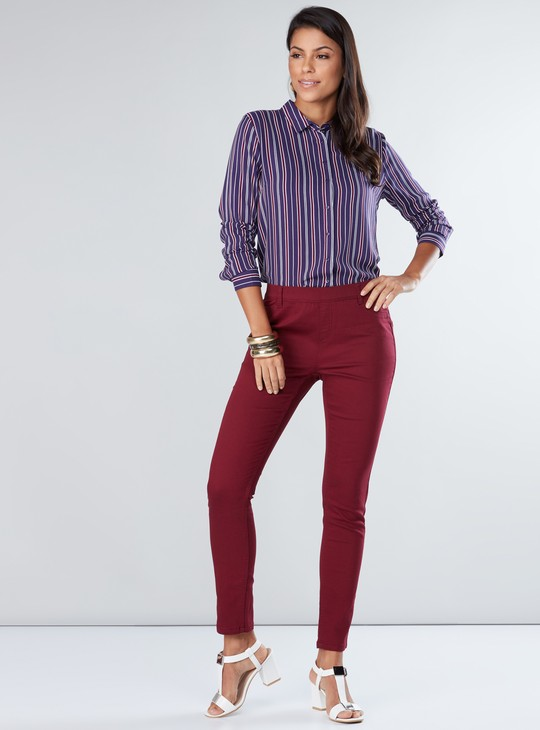 Striped Shirt with Complete Placket