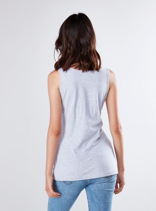 Plain Vest with Scoop Neck